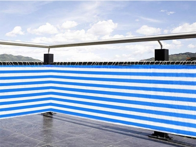 Fashion knitting striped fence screen for guardrail