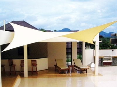 Custom pure color rectangle shade sail for outdoor sun shading