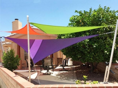 New Colorized Hdpe shade sail 180-340gsm