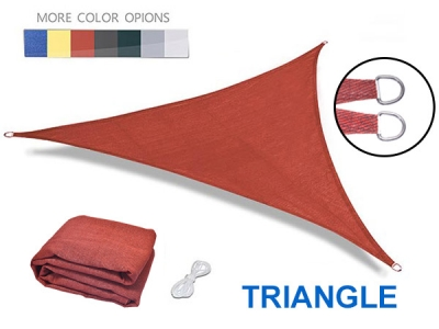 Newest Triangle 180g-320gsm 100% hdpe shade sail