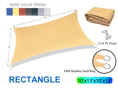 Hot Selling Rectangle Sunshade Sail for Customization/wholesale
