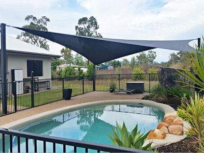 Newest style heavy duty sun shade sail for swimming pool