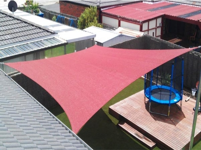 Anti UV HDPE household Shade Sail for Customization