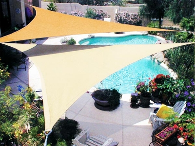 Fashion Design custom Triangle Shade Sail for backyard